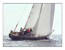 The Clyde Cruising Club's 1977 Tomatin Trophy the first Scottish Series held at Tarbert Loch Fyne.  An overnight race from Gourock to Campbeltown then on to Olympic Triangles in Loch Fyne. ..Pinta.