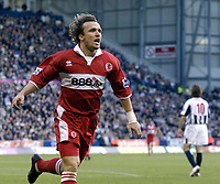 Fotball<br /> Premier League 2004/05<br /> West Bromwich v Middlesbrough<br /> 14. november 2004<br /> Foto: Digitalsport<br /> NORWAY ONLY<br /> Boro's Bolo Zenden celebrates putting his side 2-1 in front