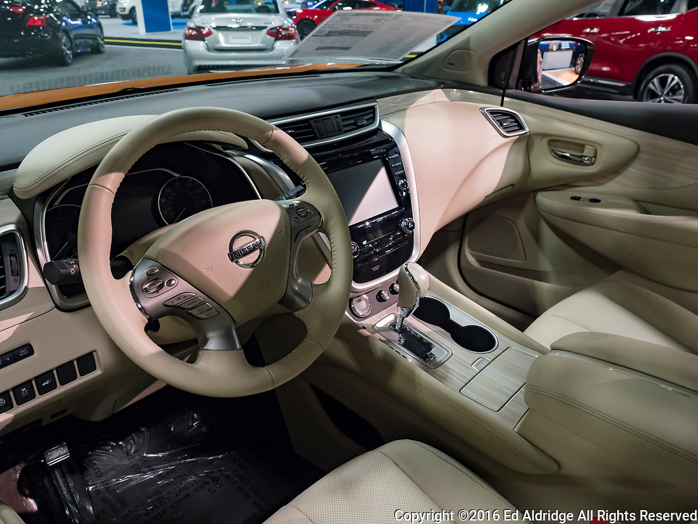 CHARLOTTE, NC, USA - NOVEMBER 17, 2016: Nissan Murano on display during the 2016 Charlotte International Auto Show at the Charlotte Convention Center in downtown Charlotte.