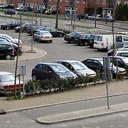 NLD/Huizen20080317 - Parkeerplaats winkelcentrum Oostermeent aan de Monnickskamp