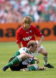 01-06-2003 NED: Amstelcup finale FC Utrecht - Feyenoord, Rotterdam<br /> FC Utrecht pakt de beker door Feyenoord met 4-1 te verslaan / Dave van den Bergh, Paul Bosvelt