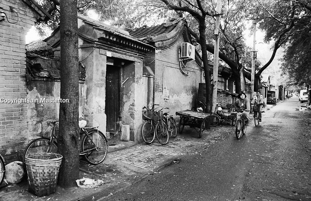 Old hutong or alley in historic district of Beijing China