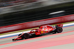 October 21, 2018 - Austin, TX, U.S. - AUSTIN, TX - OCTOBER 21: Ferrari driver Kimi Raikkonen (7) of Finland races through turn 4 during the F1 United States Grand Prix on October 21, 2018, at Circuit of the Americas in Austin, TX. (Photo by John Crouch/Icon Sportswire) (Credit Image: © John Crouch/Icon SMI via ZUMA Press)