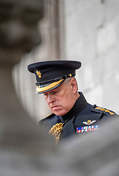 """November 20, 2019: The Duke of York has stepped down from public duties in the wake of his disastrous television interview over his relationship with the sex offender Jeffrey Epstein. In a statement released by Buckingham Palace he said that the controversy had become """"a major disruption"""" to the work of the royal family. Pictured: September 8, 2019, Bruges, Belgium: PRINCE ANDREW, the Duke of York, attending a memorial to celebrate the 75th anniversary of the liberation of Bruges in his role as Colonel of the Grenadier Guards. (Credit Image: © i-Images via ZUMA Press)"""