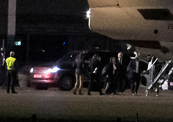 © Licensed to London News Pictures. 09/12/2020. London, UK. British Prime Minister BORIS JOHNSON (second right) boards a plane with his team at Northolt Airport in west London where he is due to fly Brussels to meet European commission president Ursula von der Leyen in an attempts to come to a last minute agreement on a Brexit deal. Photo credit: Ben Cawthra/LNP