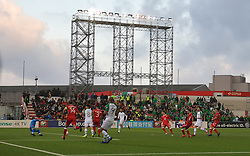 Republic of Ireland's Jeff Hendrick (second right) scores his side's first goal of the game during the UEFA Euro 2020 Qualifying, Group D match at the Victoria Stadium, Gibraltar.