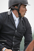 BRADELEY LAW ridden by MICHAEL OWEN (Japan) during the final jumping event at Bramham International Horse Trials 2016 at  at Bramham Park, Bramham, United Kingdom on 12 June 2016. Photo by Mark P Doherty.