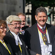 Judges leave Westminster Abbey after Judges annual service