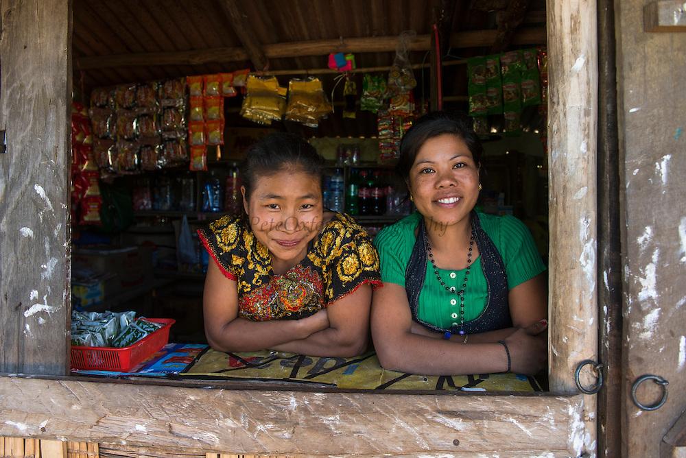 Ao Naga woman & produce market<br /> Ao Naga Headhunting Tribe<br /> Mokokchung district<br /> Nagaland,  ne India