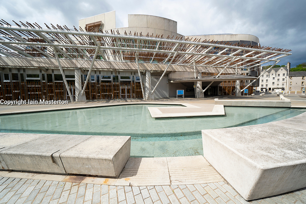Exterior view of Scottish Parliament building at Holyrood in Edinburgh, Scotland, UK