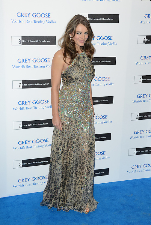 Elizabeth Hurley  attends the Grey Goose Winter Ball to benefit the Elton John Aids Foundation held at the Battersea Powerstation, London, UK. 10/11/2012 Anne-Marie Michel/CatchlightMedia