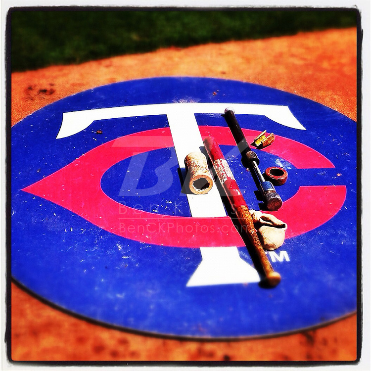 An Instagram of the Minnesota Twins on-deck circle.
