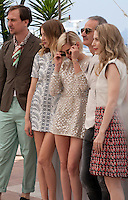 Lars Eidinger, Sigrid Bouaziz, Kristen Stewart, Olivier Assayas and Nora von Waldstattenat the Personal Shopper film photo call at the 69th Cannes Film Festival Tuesday 17th May 2016, Cannes, France. Photography: Doreen Kennedy