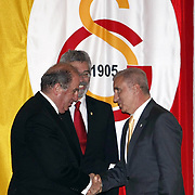 Turkish sport club Galatasaray's president Unal AYSAL (R) during their Turkish Sports Club Galatasaray, 96 period with the general meeting with the president would choose the regular selection. So, I am a general meeting with the regular selection is made. Yellow-red with a 2-year club president and board of directors will determine to manage the congress, Galatasaray High School in Tevfik Fikret Salon at 10.00 hours and also began voting ended. Total participation is near the 4000'e says. Extraordinary General Assembly of choice Unal Aysal Sports, the club's history by taking the high game (2,998 votes) was elected President of Galatasaray Sports Club. Photo by TURKPIX