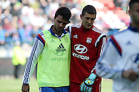 Clement GRENIER / Mathieu GORGELIN - 09.05.2015 -  Caen / Lyon  - 36eme journee de Ligue 1<br />