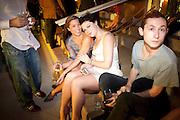 SPRING DAUTEL; EMMA HALL; ALEX GARDENFELD; , Jay Jopling hosts a party at Soho House. Miami Beach. Miami art Basel. 30 November 2010. -DO NOT ARCHIVE-© Copyright Photograph by Dafydd Jones. 248 Clapham Rd. London SW9 0PZ. Tel 0207 820 0771. www.dafjones.com.