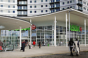 asda supermarket exterior with people