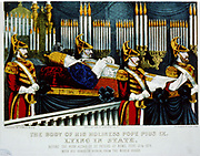 The body of his holiness Pope Pius IX: lying in state Currier & Ives, 1878.