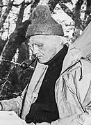 Eric Shipton, British mountaineer & explorer, 1973 Tierra del Fuego, Monte Burney, Photo; Roger Perry / Hedgehog House archive