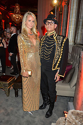 LADY VICTORIA HERVEY and ? at the Tatler Magazine's Kings & Queens party held at Savini at Criterion, Piccadilly, London on 1st June 2016.