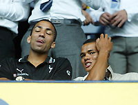 Photo: Chris Ratcliffe.<br /> Tottenham Hotspur v Inter Milan. Pre Season Friendly. 28/07/2006.<br /> Aaron Lennon and Jermaine Jenas of Spurs in the stands.