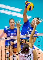 22-08-2017 NED: World Qualifications Slovenia - Bulgaria, Rotterdam<br /> Bulgaria win 3-1 against Slovenia / Tina Grudina #21 of Slovenia<br /> Photo by Ronald Hoogendoorn / Sportida