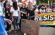 Cherri Foytlin and her daughter Jayden, at the Climate March in Washignton D.C.