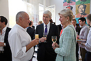SIR RICHARD ROGERS, MR. AND MRS. HANS ZIEGLEN, These Foolish Things, charity evening hosted by Sir Richard and Lady Rogers. Chelsea. London. 7 May 2008.  *** Local Caption *** -DO NOT ARCHIVE-© Copyright Photograph by Dafydd Jones. 248 Clapham Rd. London SW9 0PZ. Tel 0207 820 0771. www.dafjones.com.