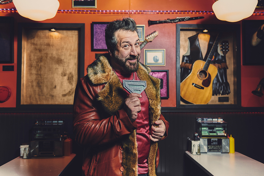 Joe Fatone shot on the set of Adult Swim's Your Pretty Face is Going to Hell.