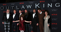 Director David Mackenzie (centre) along with cast members at the Scottish premiere of Outlaw King at the Vue Omni in Edinburgh.