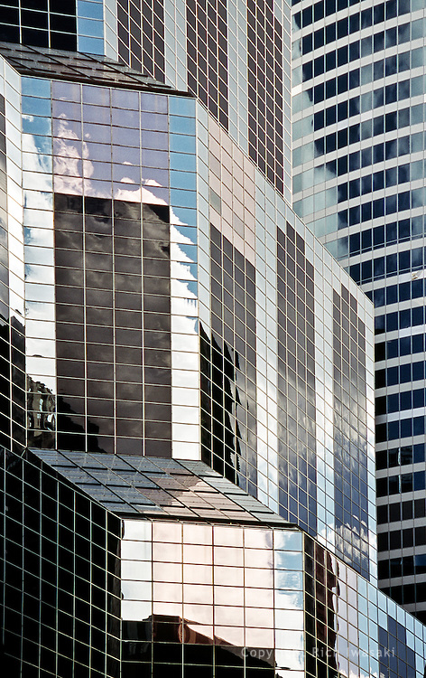 Architectural detail of One South Wacker building, Chicago, Illinois