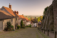 Gold Hill, a steep cobbled street in the town of Shaftesbury in  Dorset,  gets used in movies, calendars and advertising. Perhaps most famous for the bread comercial with a boy on his bike.