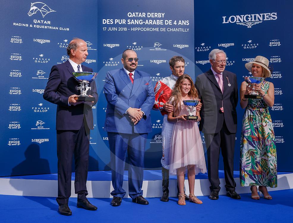 Rodess Du Loup (C. Soumillon) wins Qatar Derby des Purs-Sang Arabe de 4 Ans Gr. 1 PA in Chantilly, France 17/06/2018, photo: Zuzanna Lupa