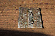 The Sense of Light, 2001 by the artist Christopher Le Brun RA (Royal Academy) in situ installed at the United Reform Church, Camberwell. The Sense of Sight is a bronze relief, an edition of 3. Christopher Mark Le Brun was born in Portsmouth in 1951. He studied at the Slade School of Fine Art (DFA) in London from 1970-74 and at Chelsea School of Art (MA) from 1974-75. Le Brun has exhibited in many significant surveys of international art, including Nuova Immagine, Milan 1981, Zeitgeist Berlin 1982, Avant-garde in the Eighties, Los Angeles 1987 Contemporary Voices, Museum of Modern Art New York 2005 and Watercolour Tate Britain 2011. From 1987-88 he received the D.A.A.D. award from the German government, living and working in Berlin for a year. He was elected to the Royal Academy in 1996 and in 2000 became the Academy's first Professor of Drawing. Le Brun is a former trustee of the Tate, the National Gallery, and the Dulwich Picture Gallery. He is currently a trustee of the Prince's Drawing School. In 2010 he was awarded an Honorary Fellowship by the University of the Arts London. in 2011 he was elected President of the Royal Academy.