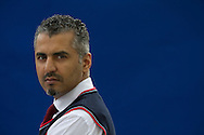 British-born Pakistani and former Islamist extremist Maajid Nawaz, pictured at the Edinburgh International Book Festival where he took part in a debate about his recently-formed 'counter-extremism social movement'. The three-week event is the world's biggest literary festival and is held during the annual Edinburgh Festival. The 2012 event featured talks and presentations by more than 500 authors from around the world.