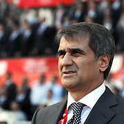 Trabzonspor's coach Senol GUNES during their Turkey Cup final match Trabzonspor between Fenerbahce at the GAP Arena Stadium at Urfa Turkey on wednesday, 05 May 2010. Photo by TURKPIX