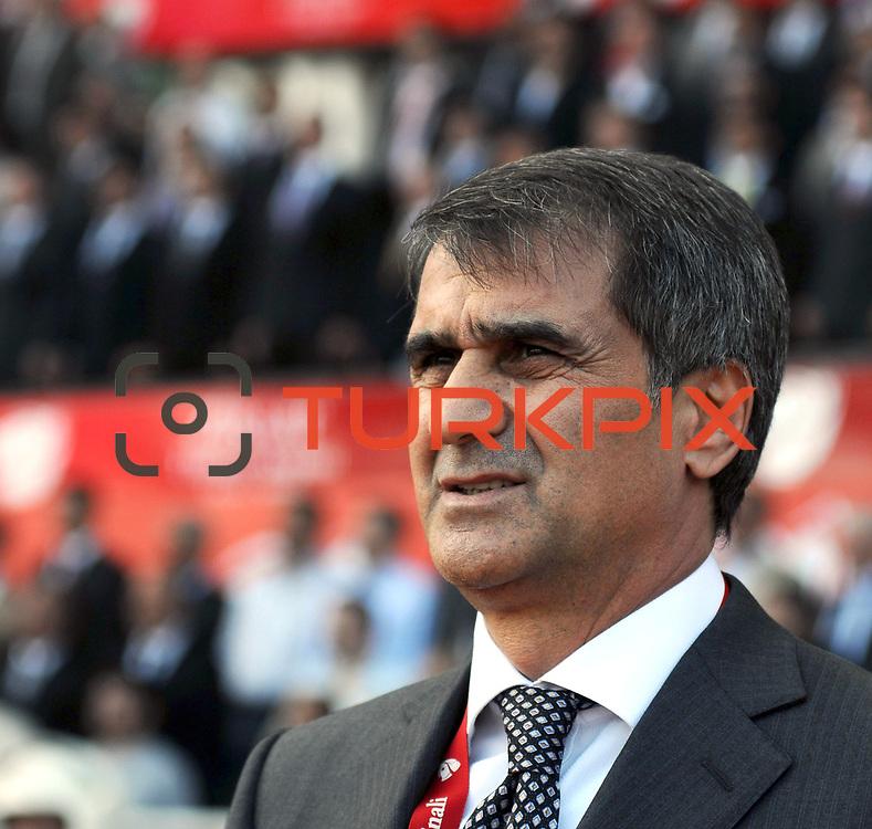 Trabzonspor's coach Senol GUNES during their Turkey Cup final match Trabzonspor between Fenerbahce at the GAP Arena Stadium at Urfa Turkey on wednesday, 05 May 2010. Photo by TURKPIX