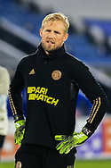 Single portrait half body Kasper Schmeichel of Leicesster City during the Europa League match between Leicester City and AEK Athens at the King Power Stadium, Leicester, England on 10 December 2020.