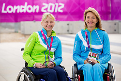 Mateja Pintar and Andreja Dolinar of Slovenian Paralympic team at Day 1 of Summer Paralympic Games London 2012 on August 29, 2012, in Olympic Park, London, Great Britain. (Photo by Vid Ponikvar / Sportida.com)