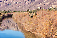 Draa river with Jebel Kissane mountains in the Draa valley, Morocco.
