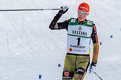 24.02.2017, Lahti, FIN, FIS Weltmeisterschaften Ski Nordisch, Lahti 2017, Nordische Kombination, Langlauf, im Bild Silbermedaillen Gewinner Eric Frenzel (GER), // Silver Medalist Eric Frenzel of Germany during Cross Country of Nordic Combined competition of FIS Nordic Ski World Championships 2017. Lahti, Finland on 2017/02/24. EXPA Pictures © 2017, PhotoCredit: EXPA/ JFK