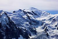 Mountain impression Aguille du Midi, Mont Blanc - Europe, France, Haute Savoie, Aiguilles Rouges, Chamonix, Lac Blanc - Noon - September 2008