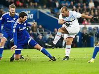 Football - 2016 / 2017 Championship - Cardiff City vs. Aston Villa<br /> <br /> Gabby Agbonlahor of Aston Villa shoots--, at Cardiff City Stadium.<br /> <br /> COLORSPORT/WINSTON BYNORTH