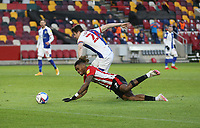 Brentford's Ivan Toney is brought down by Blackburn Rovers' Darragh Lenihan to earn his side a penalty and Lenihan received a red card<br /> <br /> Photographer Rob Newell/CameraSport<br /> <br /> The EFL Sky Bet Championship - Brentford v Blackburn Rovers - Saturday 5th December 2020 - Brentford Community Stadium - Brentford<br /> <br /> World Copyright © 2020 CameraSport. All rights reserved. 43 Linden Ave. Countesthorpe. Leicester. England. LE8 5PG - Tel: +44 (0) 116 277 4147 - admin@camerasport.com - www.camerasport.com