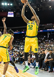 July 6, 2018 - Oakland, CA, U.S. - OAKLAND, CA - JULY 06: DeShawn Stevenson (92) co-captain of the Ball Hogs shots from the perimeter during game 2 in week three of the BIG3 3-on-3 basketball league on Friday, July 6, 2018 at the Oracle Arena in Oakland, CA (Photo by Douglas Stringer/Icon Sportswire) (Credit Image: © Douglas Stringer/Icon SMI via ZUMA Press)