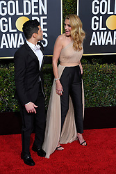January 6, 2019 - Los Angeles, California, U.S. - Rami Malek and Julia Roberts during red carpet arrivals for the 76th Annual Golden Globe Awards at The Beverly Hilton Hotel. (Credit Image: © Kevin Sullivan via ZUMA Wire)