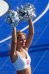 Cheerleader Dragon Ladies during exhibition match between Croatia, Italy and Slovenia at Eurobasket 2013 promotion Basketball on sea raft on August 24, 2013, Koper, Slovenia. (Photo by Matic Klansek Velej / Sportida.com)
