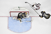LAS VEGAS, NV - FEBRUARY 13: The Vegas Golden Knights play the Chicago Blackhawks at T-Mobile Arena on February 13, 2018 in Las Vegas, Nevada. (Photo by Jeff Bottari/NHLI via Getty Images) *** Local Caption ***