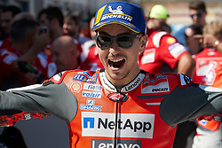 September 22, 2018 - Jorge Lorenzo (Ducati Team)  in action during  Gran Prix Movistar the Aragón. 22-09-2018  September 22, 2018. (Credit Image: © AFP7 via ZUMA Wire)