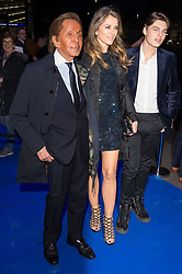 © Licensed to London News Pictures. 21/03/2017. VALENTINO, ELIZABETH HURLEY and DAMIEN HURLEY attend the opening night performance of An American In Paris  at the Dominion Theater. London, UK. Photo credit: Ray Tang/LNP